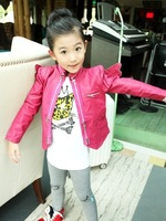 2013 girl's jacket  wing jacket wholesale motorcycle outwear girl fashion coat