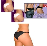 Brazilian Secret with retail box sexy Lingerier Underwear Padded Pantys Beautify Buttocks up panty as seen on tv