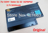 NEW Laptop Battery For SONY Tabler PC S1 S2 SGPBP02  SGPT111CN/S SGPT112CN/S SGPT113CN/S 3.7V 5000mAh