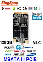 Mini PCIE MSATA 128GB SSD SATA III  Solid State Drive Disk 120GB For HP Dell Asus Tablet PC For Lenovo V370 V470 Y470 K26 K27