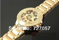 FREE Sing Post FAST Shipping) NEW Luxury ,Fashion Gold Strap Quartz Watch Dial set with Rhinestone Fashion Watch