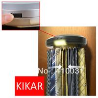 KIKAR Electric Motorized Neck Tie Hanger Automatic Revolving Belt Rack Scarf Organiser Electronic Organizer Tracker