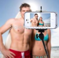 Travel Phone Self Timer Autodyne Self-Portrait Pole Hand Monopod Support Retractable Digital Camera Holder With Clip