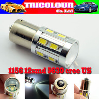 HK POST FREE!!! 1156 1157 BA15S BAY15D BAU15S P21W 12 SMD 5630 CREE Car Turn signal brake Stop LED 12V White 10pcs/lot #LF23