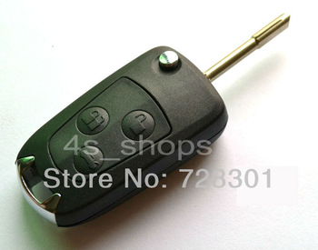 Remodel Case Uncut Blank Flip Folding Key Shell For Ford Focus Mondeo Suit Festiva Fusion KA 3 Buttons Switchblade Fob