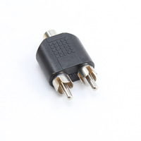 1 RCA Female to 2 RCA Male Y Splitter Audio Adapter Converter Connector #0518