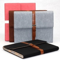 Leather Case for iPad 4 3 2 Briefcase Business Style New Stand Smart Cover for iPad 2/3/4 Fashion Flip Luxury Case Free Shipping