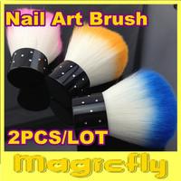 [SZ-001]2PCS/LOT Soft Nail Dust Brush Manicure Tool Cosmetic Brush + Free Shipping