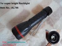 FREE SHIPPING 1W superbright flashlight  zoom adjustable flashlight 160lms plastic torch