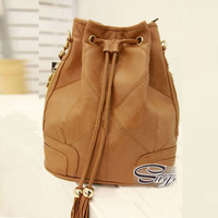 2014 Hot Women Candy Color Retro Bucket Bag Tassels Shoulder Bag Cross Body Hot Products