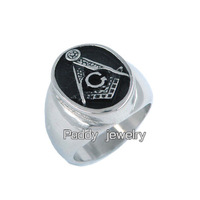 Free shipping! Stainless Steel Freemasonry Masonic Ring GD0014