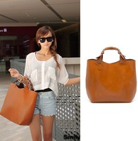 Fashion 2014  Hot Selling Vintage handbag PU Leather Womens Casual Big bags Hot Products