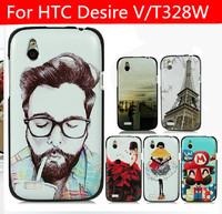 21 species pattern black side case for HTC Desire V case HTC Desire X case Desire X cover T328W case