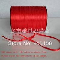 Wholesale 3mm polyester  satin  ribbons  880Yards/ lot  free shipping