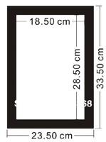 Model D8511  brightnss adjustable menu cards One side lighting panel