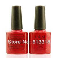 60 PCS Nail glue rack soak off uv gel nails kit L&M  gel nail polish 7.3ml Professional color UV gel nails
