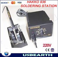Feee shipping  220V HAKKO 936 Soldering Station Digital solder station,SMD rework station