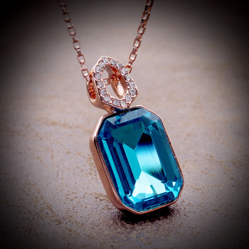 Korea Crystal Necklace wholesale Austrian crystal pendant necklace short section of the clavicle - Man Ting fragrance 4615