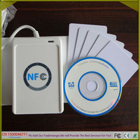 Free Shipping USB Contactless Smart Card/Tags NFC Reader and Writer ACR122U 13.56MHZ RFID Support all four types of NFC tags