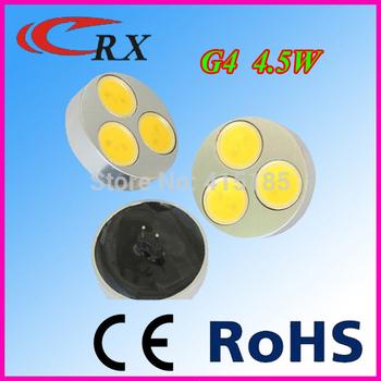Free shipping  4pcs/lot high power lamp 4.5W G4 led bulb light lamps warm white/white 12vDC