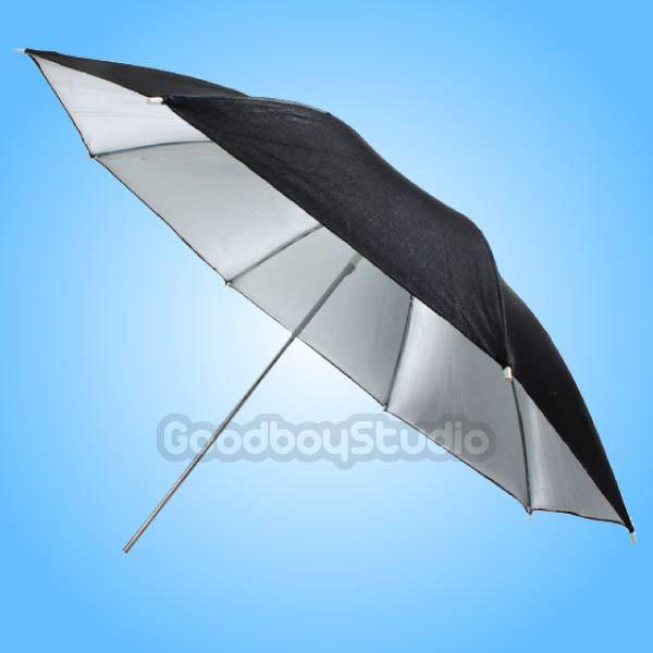 "10PCS 40"" 102cm Black Silver Reflective Umbrella for Photography Studio Flash Strobe Lighting(China (Mainland))"