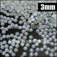 Free Shipping-10000pc/bag,3mm Acrylic Jelly Stone, white Flatback Nail Art Rhinestone,Phone Case Decorations