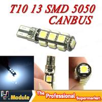 4 PCS X Error Free Canbus T10 W5W 194 501 13 SMD 5050 LED Car Wedge Signal Side Marker Clearance led bulb White 12V #YNB46