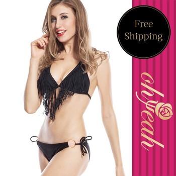 Brand New Tassels Swim Wear Women Sexy Beads Fringed Womens Swim Wear Bikinis DY30511