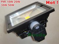 Promotion PIR Motion Sensor led flood light 30w 50w 20w 10w led spotlight outdoor USA bridgelux chips 100lm/w