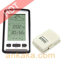 Household Wireless Weather Forecast Thermometer for Indoor and Outdoor w/ Alarm Clock and Calendar