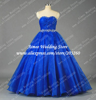 U046 New Beading Sashes Long Organza Evening Dresses Free Shipping