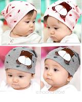 head cap,Babys hat,babys cotton cap, for baby 0-12M, with cute little dog pattern ,spring&autumn TZ389