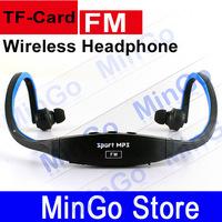 FM Mp3 wireless headphone support TF Card Player for sport and outdoor Sport Player Music