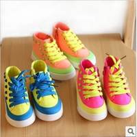 2013 Autumn Child Boys And Girls Rivet  Side Part  Canvas Sneakers Casual Single Board Shoes For Kids