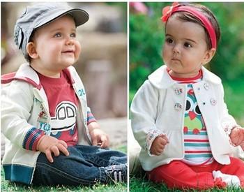 Retail 1pcs free shipping 2013 new baby set cartoon boy\girls 3 pcs set (coat+t-shirt+pants) autumn infant clothing set
