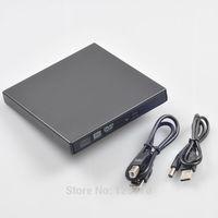 External USB 2.0 8X DVD Burner 16X CD RW BLACK 24X CD Reader DVDRW Combo Drive Slim Portable Book Air PC Laptop Free Shipping