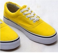 Solid color lovers shoes lacing all-match classic low canvas shoes shoes single shoes