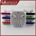 8 Colors Stereo Bass Mic Volume Control Remote Earphone EarPods Headphone Headset For iPhone 4S 5 iPad 2 3 4 in Retaill Pack