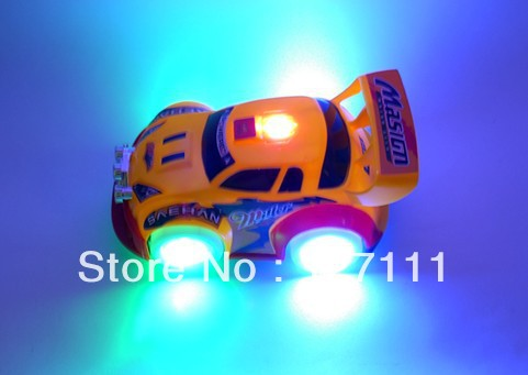 Free shipping Electric light music flash car automobile race car toy children small gift toy(China (Mainland))