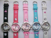Free Shipping10Pcs/lot wholesale Hot Sale new fashion Ladies students Hello Kitty Jelly Women's gift high-quality wristWatch