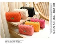 Fashion PU Handbag  black plaid chain fashion mini one shoulder cross-body women's handbag small bag