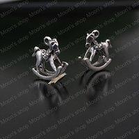 Wholesale 15*15mm Antique Silver Small Rocking Horse Alloy 3D Charms Pendants Diy Findings Accessories  30 pieces (JM2095)