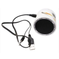 Wholesale 1PC Free Shipping Wireless Bluetooth Speaker TF Card  White USB Ceramic Amplifier Flower Printed Loudspeaker 750200