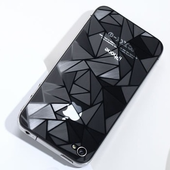 High Quality 3D Diamond Film Screen Guard Protector front+Back for iphone 4 4S with Retail Package  10pcs/lot