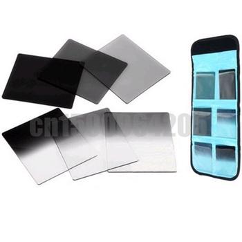 6pcs Graduated Neutral Density ND Color filter set +filter case bag for Cokin P Series Camera