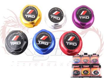 TRD Aluminium Oil cap Fuel Tank Cap Cover Blue/red/black/silver/golden Hight Quality