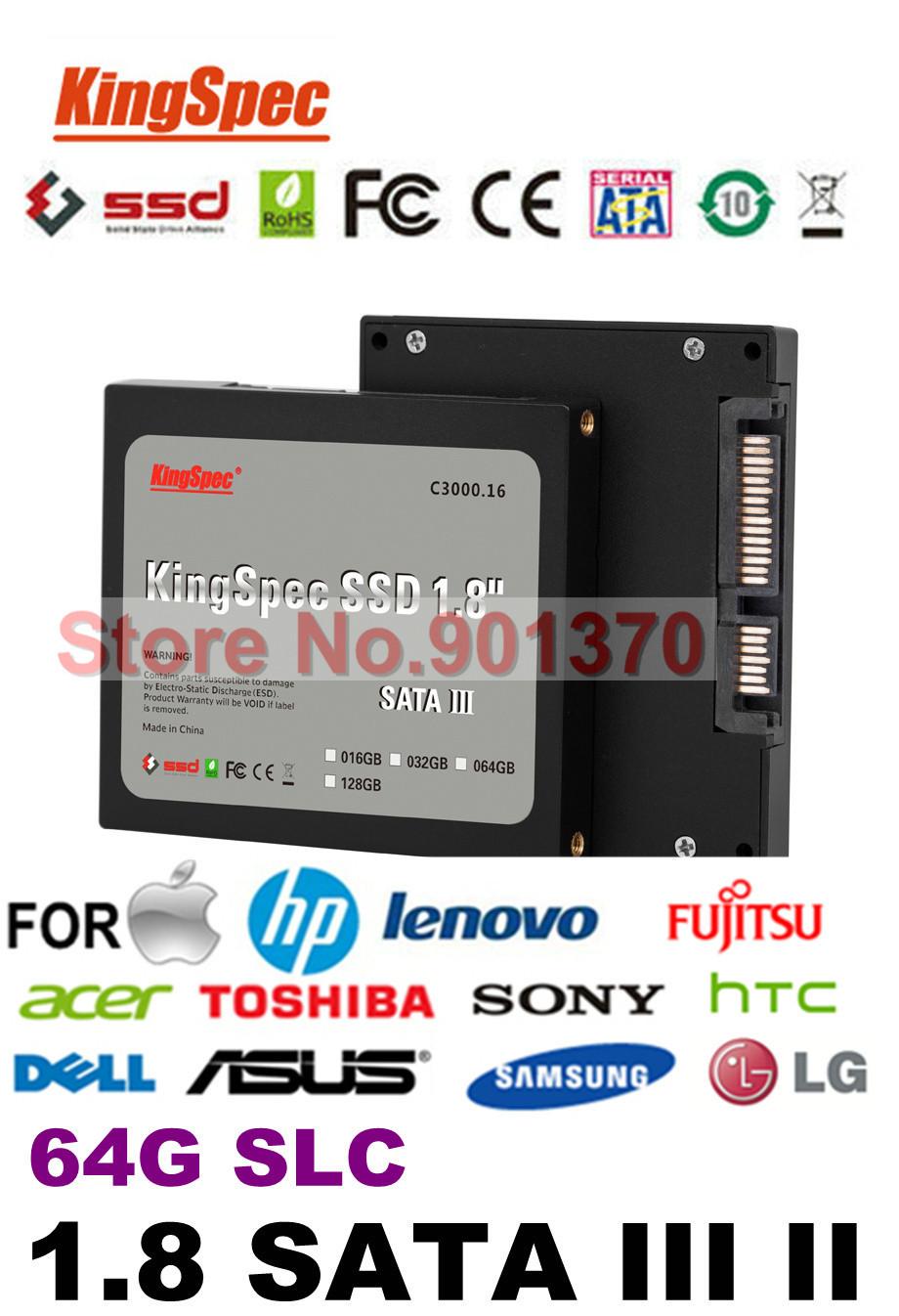 "Kingspec SSD 1.8"" SATA III SSD 64GB SATA II Solid State Drive Flash Drive SSD Hard Drive SLC 4-Channel ,CE FCC ROHS(China (Mainland))"
