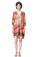 2013 The Newest Ladies Bohemian Style Silk Feel Long Sleve V-neck Dress,Women's Fashion Brief Casual Dress ly108