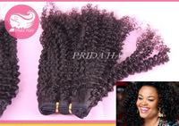 afro kinky curly brazilian black women human hair weaving bundles machine hair weft