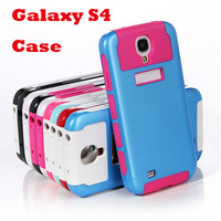 Hybrid Impact Hard Soft Case Cover for SAMSUNG GALAXY S IV S4 i9500 with Bright Contrast Color 2013 NEW Free Shipping